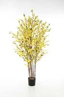 FORSYTHIA TREE 130 CM - Länge: 130cm, Blätter: 360, Blüten: 1450