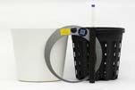 HTL Flori 19 weiss mit HPL - System Erde und HTL-Kulturtopf 16,5 x14,5 cm