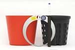 HTL Flori 19 orange mit HPL - System Erde und HTL-Kulturtopf 16,5 x14,5 cm