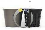 HTL Flori 19 dunkelsilber mit HPL - System Erde und HTL-Kulturtopf 16,5 x14,5 cm