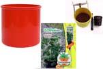 """Plants4Kids """"Mein Pflanzentöpfchen"""" Topf rot Komplettset mit Erdnuss Jimmi Pride Nr. 50400"""