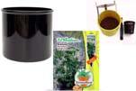 """Plants4Kids """"Mein Pflanzentöpfchen"""" Topf schwarz Komplettset mit Erdnuss Jimmi Pride Nr. 50400"""