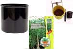 """Plants4Kids """"Mein Pflanzentöpfchen"""" Topf schwarz Komplettset mit Beaucarnea Flaschenb. Nr. 50403"""