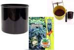 """Plants4Kids """"Mein Pflanzentöpfchen"""" Topf schwarz Komplettset mit Eukalyptusbaum Nr. 50415"""