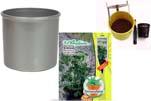 """Plants4Kids """"Mein Pflanzentöpfchen"""" Topf silber Komplettset mit Erdnuss Jimmi Pride Nr. 50400"""