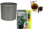 """Plants4Kids """"Mein Pflanzentöpfchen"""" Topf dunkelsilber Komplettset mit Erdnuss Jimmi P. Nr. 50400"""