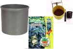"""Plants4Kids """"Mein Pflanzentöpfchen"""" Topf dunkelsilber Komplettset mit Eukalyptusbaum Nr. 50415"""