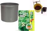 """Plants4Kids """"Mein Pflanzentöpfchen"""" Topf dunkelsilber Komplettset mit Zimmerlinde Nr. 50437"""