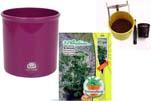 """Plants4Kids """"Mein Pflanzentöpfchen"""" Topf violett Komplettset mit Erdnuss Jimmi Pride Nr. 50400"""