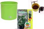 """Plants4Kids """"Mein Pflanzentöpfchen"""" Topf apfelgrün Komplettset mit Erdnuss Jimmi Pride Nr. 50400"""