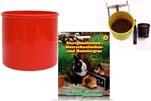 "Plants4Kids ""Mein Tiergrastöpfchen"" Topf rot Komplettset mit Hamster- Kaninchengras Nr. 24352013"