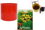 "Plants4Kids ""Mein Tiergrastöpfchen"" Topf rot Komplettset mit Ostergras Nr. 24351713"