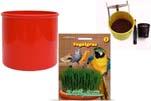 """Plants4Kids """"Mein Tiergrastöpfchen"""" Topf rot Komplettset mit Vogelgras Nr. 24351913"""