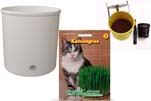"""Plants4Kids """"Mein Tiergrastöpfchen"""" Topf weiß Komplettset mit Katzengras Nr. 24351813"""