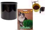 """Plants4Kids """"Mein Tiergrastöpfchen"""" Topf schwarz Komplettset mit Katzengras Nr. 24351813"""