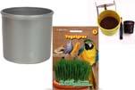 """Plants4Kids """"Mein Tiergrastöpfchen"""" Topf silber Komplettset mit Vogelgras Nr. 24351913"""