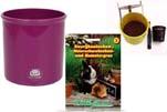 "Plants4Kids ""Mein Tiergrastöpfchen"" Topf violett Komplettset mit Hamster- Kaninchengras Nr. 24352013"