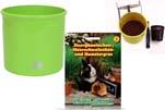 """Plants4Kids """"Mein Tiergrastöpfchen"""" Topf apfelgrün Komplettset mit Kaninchengras Nr. 24352013"""