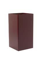 Prestige Säulen Pflanzgefäße aus Kunststoff 40/40/13 cm RAL 9010 reinweiß struktur lackiert