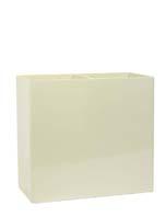 Prestige Rechteck Pflanzgefäße aus Kunststoff 90/40/60 cm RAL 9010 reinweiß struktur lackiert