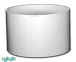 Basic Kunststoffgefäße rund 24/24 cm RAL 9010 reinweiß glänzend
