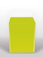 Bloom Square - Lime L:40/B:40/H:50