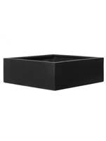 Fiberstone - Jumbo low black (XL) L:90/B:90/H:26