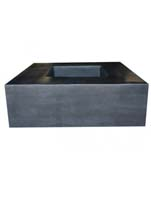Fiberstone - Jumbo seating black L:140/B:140/H:47,5