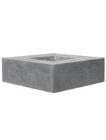 Fiberstone - Jumbo seating grey L:140/B:140/H:47,5