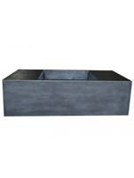 Fiberstone - Jumbo seating XXL black L:150/B:80/H:45