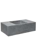 Fiberstone - Jumbo seating XXL grey L:150/B:80/H:45