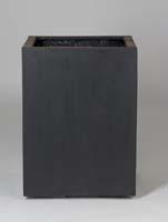 Fiberstone - Bouvy low black L:50/B:50/H:68