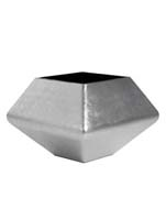 Plants First Choice - Square planter silver-leaf L:62/B:62/H:45