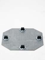 Rollengestelle - Bockrolle 4 x 8 mm ø19/H:1,5