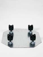Rollengestelle - Schwenkrolle 4 x 50 mm ø39/H:7