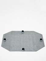 Rollengestelle - Bockrolle 4 x 8 mm ø39/H:1,5