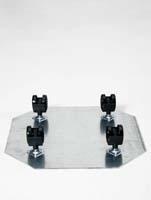 Rollengestelle - Schwenkrolle 4 x 50 mm ø43/H:7